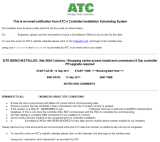 ATC Email Notification of a Traffic Signal Controller Installation Date and Instructions for Customers
