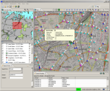 Map based Traffic Management Information System application provides geospatial view of road network with traffic data from SCATS.